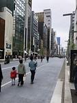De winkelstraat in de wijk Ginza