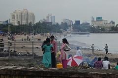 Mumbai streetlife near the beach