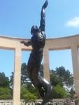 Beeld bij de Normandy American Cemetery and Memorial