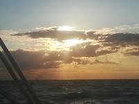 Mooi lucht op zee
