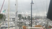 Uitzicht vanaf het terras Sixhaven