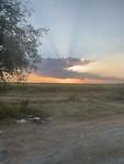 Zonsondergang tijdens de busreis