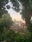 Uitzicht vanaf het dakterras van de casa