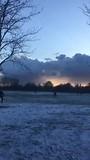Sneeuw in Hyde park