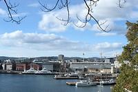 Uitzicht vanaf het ford in Oslo