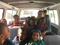 Busje vol met kids