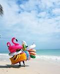 Een strandverkoper :D