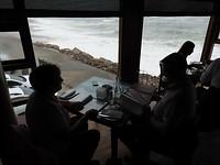 Uitzicht vanuit restaurant The Thug, Swakopmund