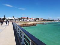 Blue Waters vanaf de pier.