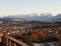 Zicht op de Alpen vanop Richterhohe.
