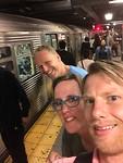 foto momentje voor dat we de metro ingingen