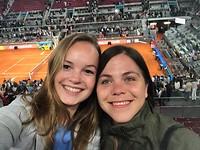Tennis night: Mutua Madrid Open! With my ex-room mate Javi!