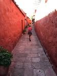 357 smal straatje in klooster Santa Catalina