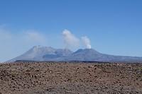 367 werkende vulkanen vanaf het uitzichtpunt op 4910m