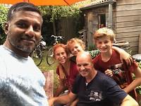 483 bijzonder bezoek van een vriend uit India die we uit Costa Rica kennen