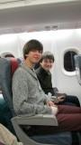 in het vliegtuig...