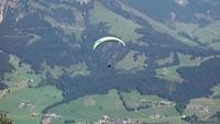 Start van het paragliden