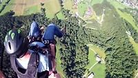 Paragliden vanuit de lucht.