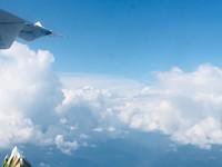 De Himalaya vanuit het vliegtuig....