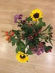 Zo'n fijn welkom als je thuis komt en een er staat een bos bloemen op tafel! (Van Ingrid)