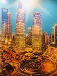 De skyline van Shanghai van LEGO!!!! Heel bijzonder.