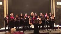 """Het optreden van het International Women's Choir op 8 maart. """"Gloria"""" van Vivaldi."""