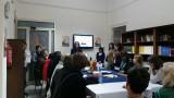 Salerno: welkomstbijeenkomst op school