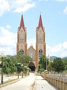 Kerk in een dorp vlakbij Phong Nha