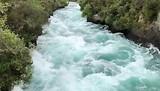 Het geweld van de Huka waterval