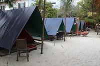 kamperen op het strand, leuker kan niet
