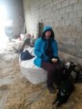 lunch in de stal