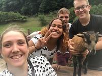 Selfie met een geit