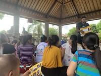 Presentatie bij de posyandu
