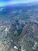 Brisbane vanuit het vliegtuig