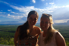 Lookout met Kerstin @ Glass House Mountains