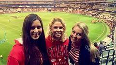 AFL game met Kerstin en Catharina