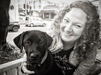 samen met 5 maanden oude Labrador Josie