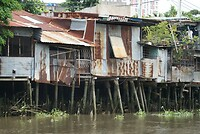 Wonen langs de Saigon River
