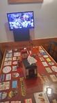 Moet niet gekker worden ,tv bij elke tafel in het restaurant Wranglers