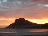 ondergaande zon in Hout Bay