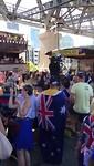 Liedje zingen tijdens festival Australiën Day.