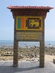 De vlag van Sri Lanka