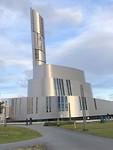 De Noorderlicht Kathedraal, in 2013 ingewijd. Buitenzijde titanium