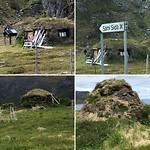 In deze turf hutten leefden de Samen vroeger.