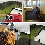 Mijn hotel bij Skogafoss, Drangshlid, en hele lekkere gare spareribs