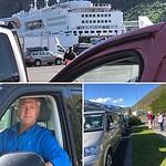 Wachten in de rij, in colonne naar de boot gereden, en Paul achter het stuur. De Norrona is binnen