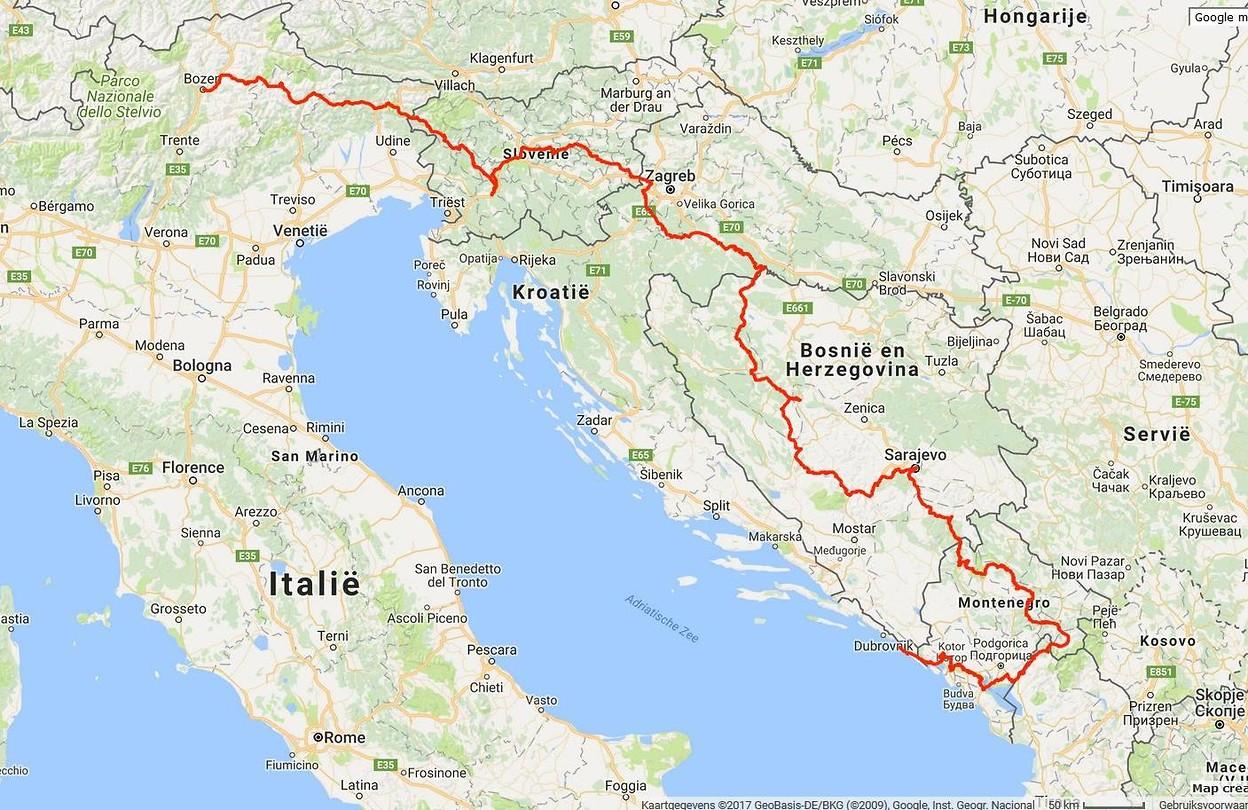 Kaart Route Dwars Door De Balkan Foto Louis Van Hest S Reisblog