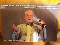 Beniamino Ricci de artiest van 83 jaar.
