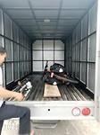 Fiets in vrachtwagen