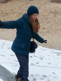 Asiya in de sneeuw